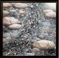 玄关画 风水画 财源滚滚 如鱼得水 时来运转 瓷板画 景德镇瓷片画