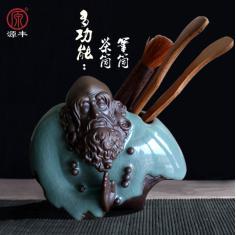 茶具配件 哥窑陶瓷茶道六君子 家居艺术创意摆件茶道套装笔筒特价