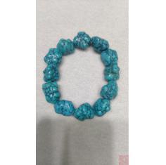 高瓷蓝随形手串