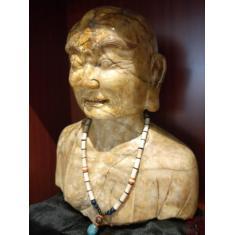 唐醉石收藏十八罗汉雕像