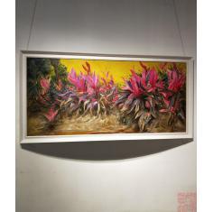 凤尾花,六尺全开,油画