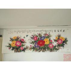 菊浓精品牡丹4幅,大四尺2张,大六尺2张整纸,画家签名 。报价为单张,购买时注明第几幅。